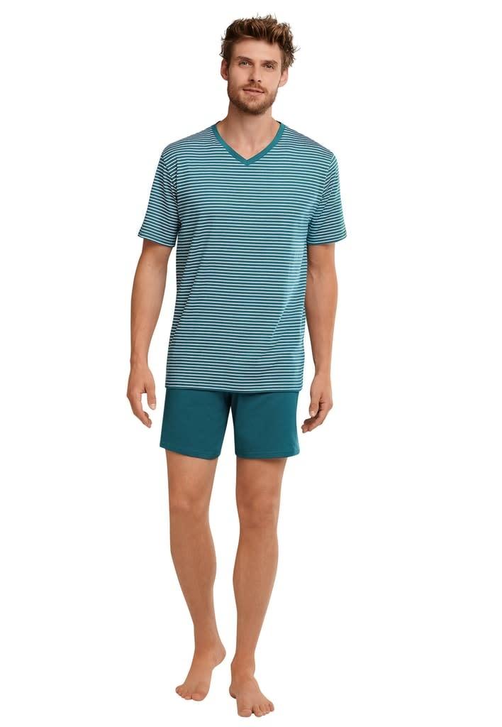 Pyjama korte mouw 173646 - blauw-1