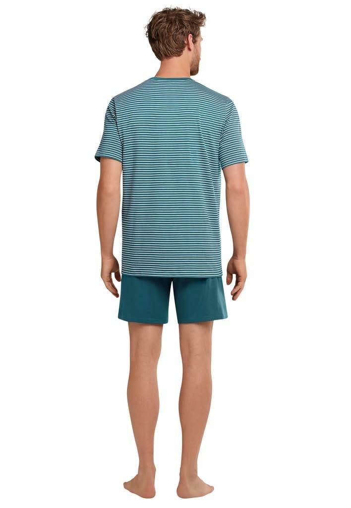 Pyjama korte mouw 173646 - blauw-2