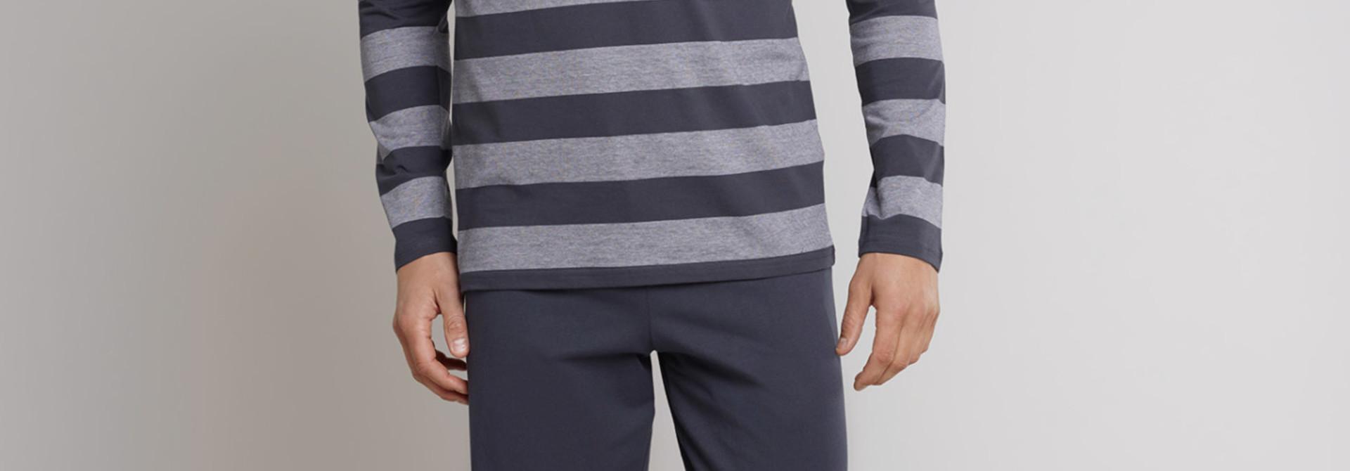 Pyjama lange mouw 159631 - grijs
