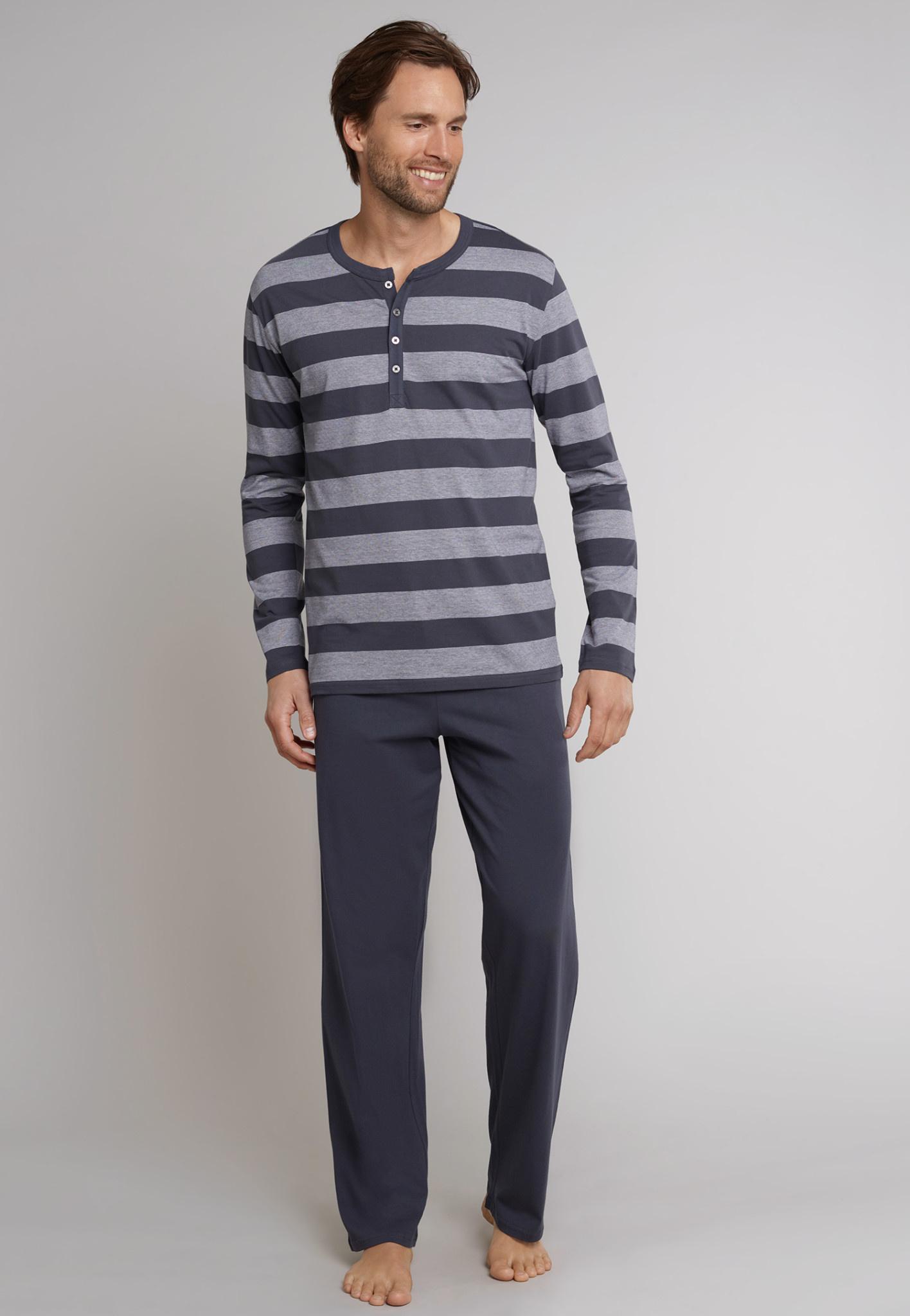 Pyjama lange mouw 159631 - grijs-1