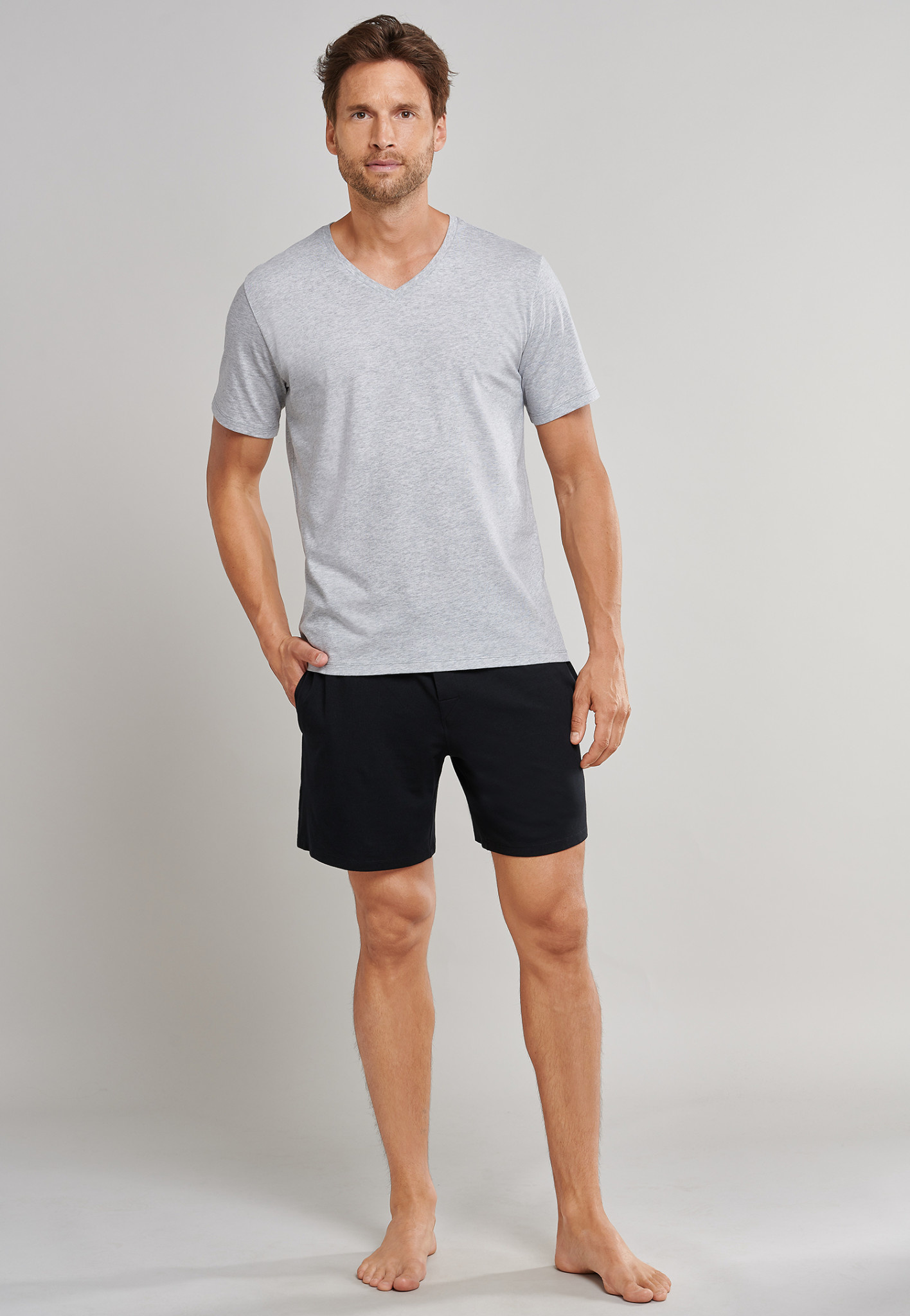 Shirt korte mouw Mix & Match 169872 - grijs-3