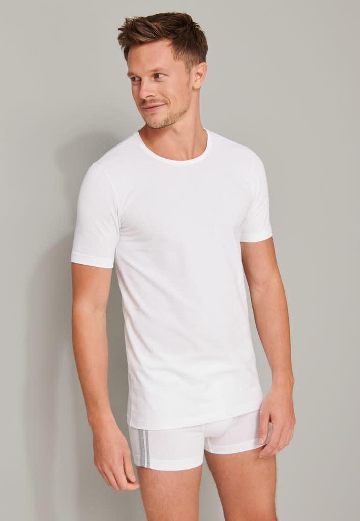 T-shirt ronde hals  95/5 2-Pack 174997 - wit-1
