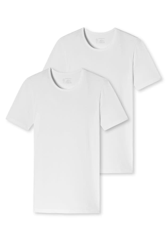 T-shirt ronde hals  95/5 2-Pack 174997 - wit-3