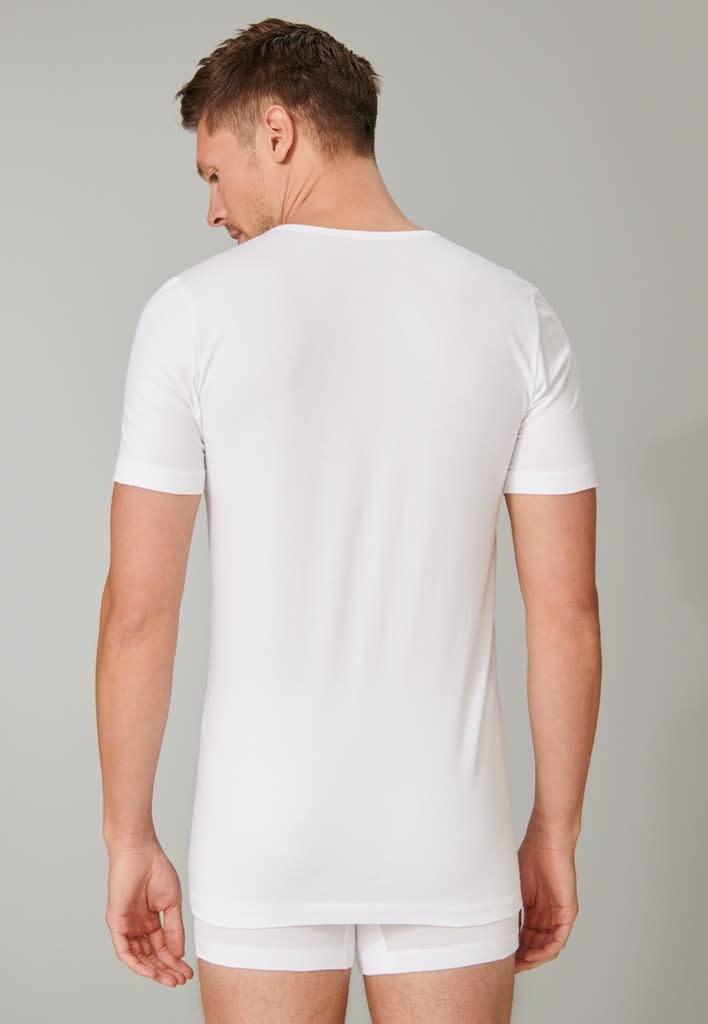 T-shirt v-hals  95/5 2-Pack 173982- wit-2