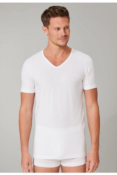 T-shirt v-hals  95/5 2-Pack 173982- wit