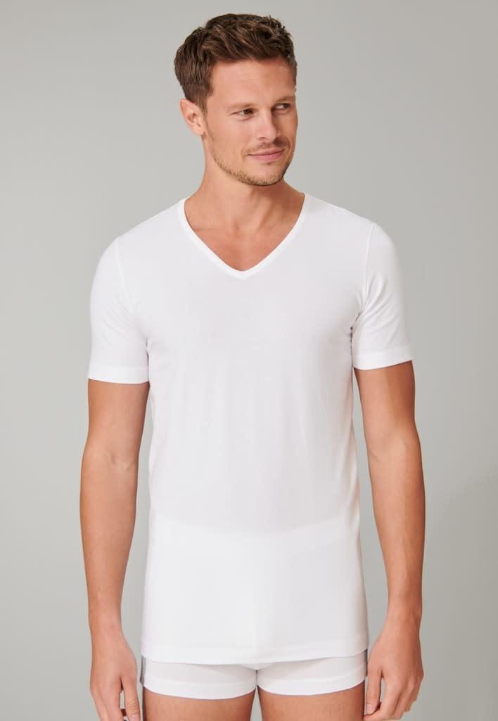 T-shirt v-hals  95/5 2-Pack 173982- wit-1