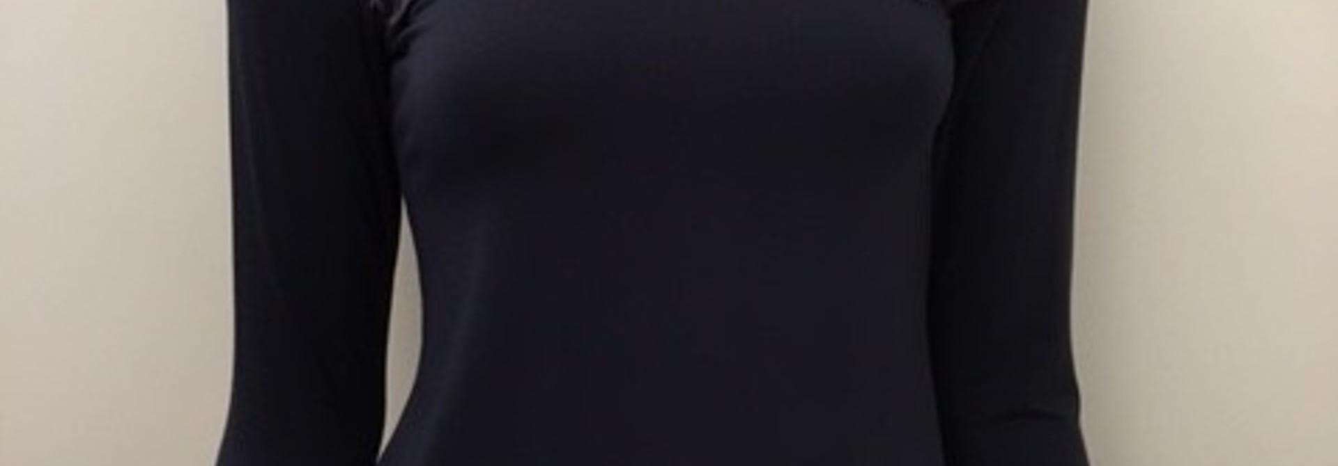 T-Shirt met kant lange mouw Greta 1045509 - donkerblauw