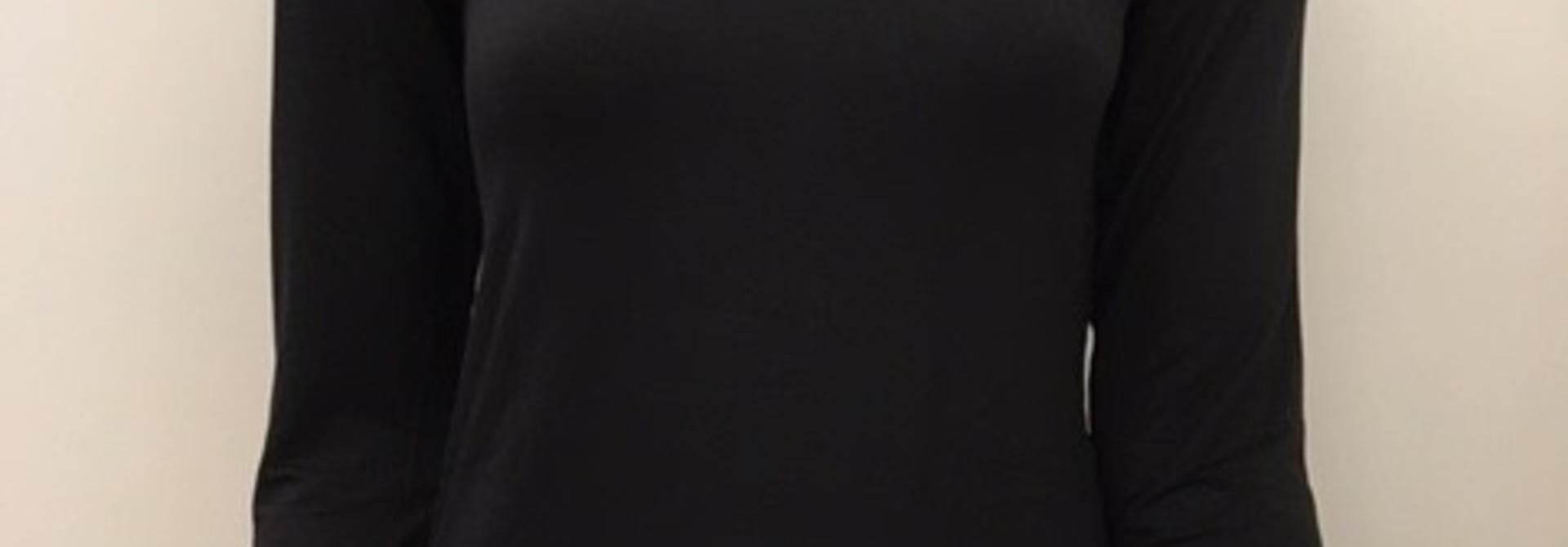 T-Shirt met kant lange mouw Greta 1045578 - zwart