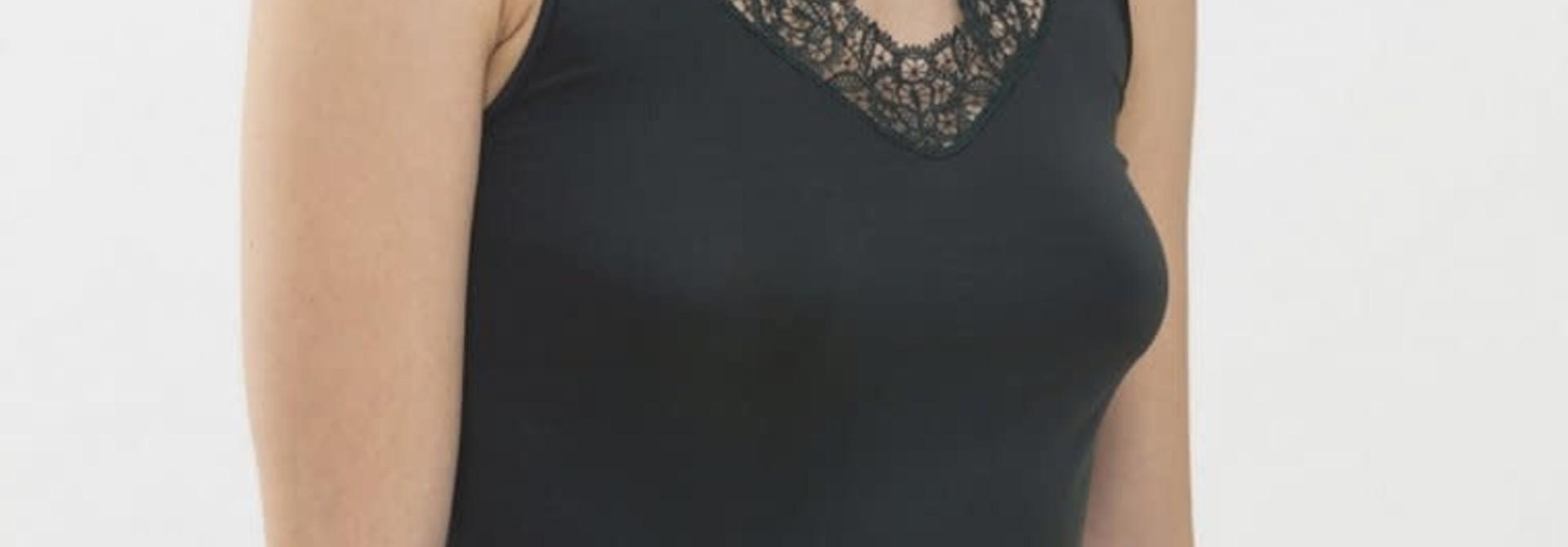Hemd met kant Emotion Elegance 55371 - dark green