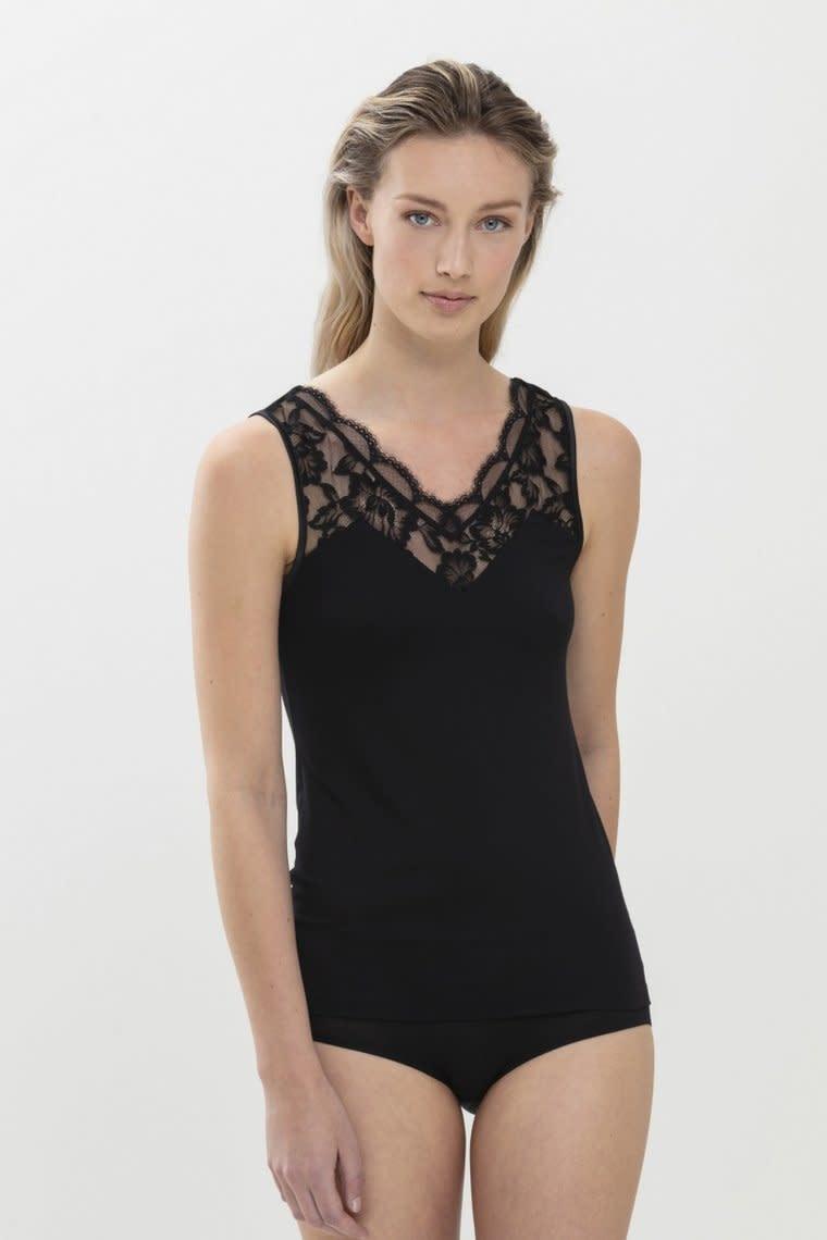 Hemd met kant Ilvy 45517 - zwart-1