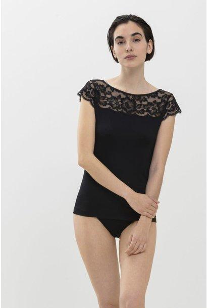 T-shirt met kant Ilvy 46516 - zwart
