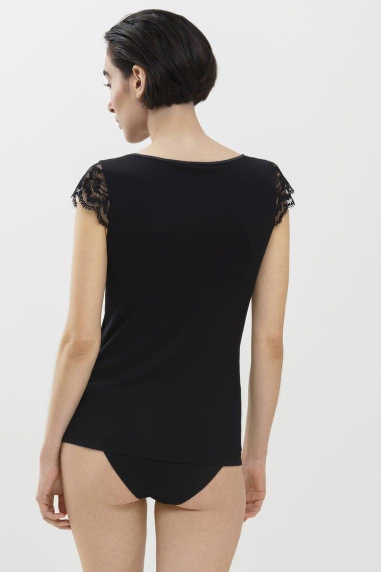 T-shirt met kant Ilvy 46516 - zwart-2