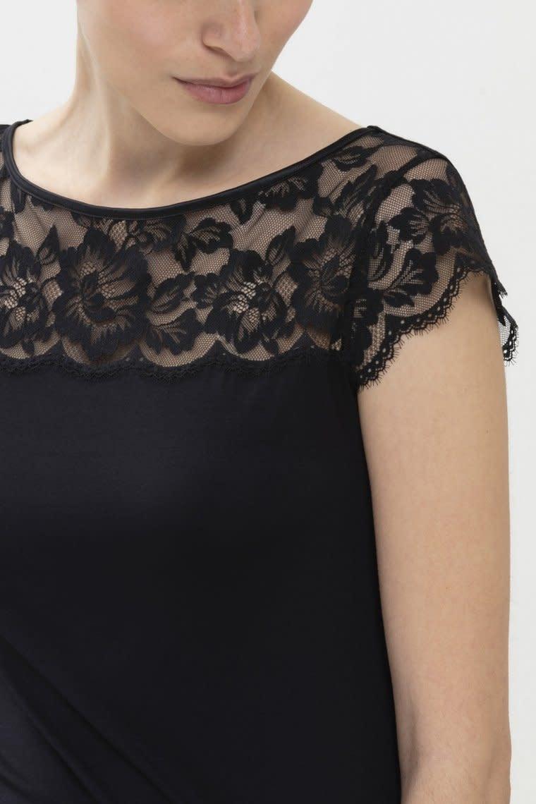 T-shirt met kant Ilvy 46516 - zwart-3