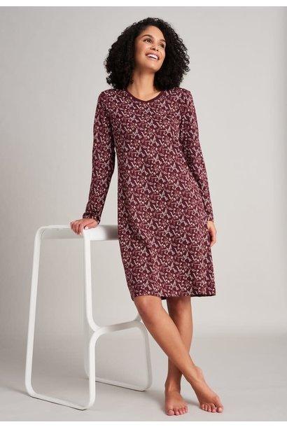 Nachthemd lange mouw 175566 - burgundy