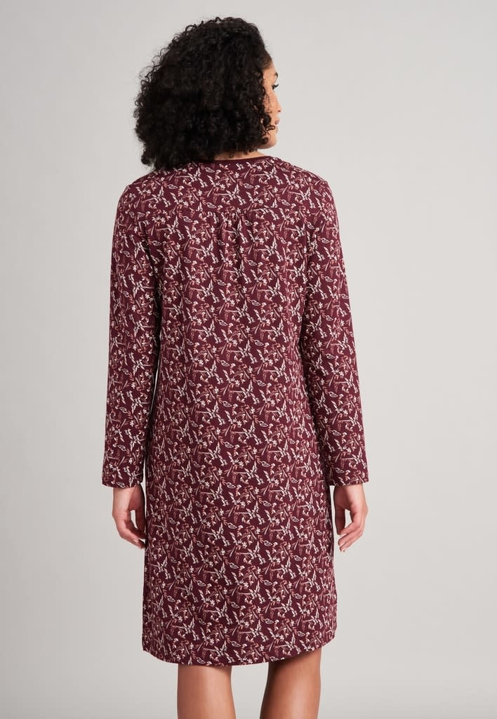 Nachthemd lange mouw 175566 - burgundy-2