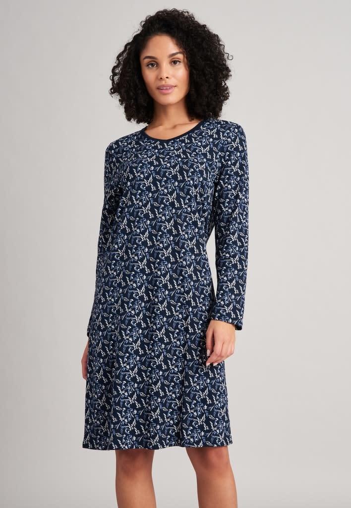 Nachthemd lange mouw 175566 - donkerblauw-3