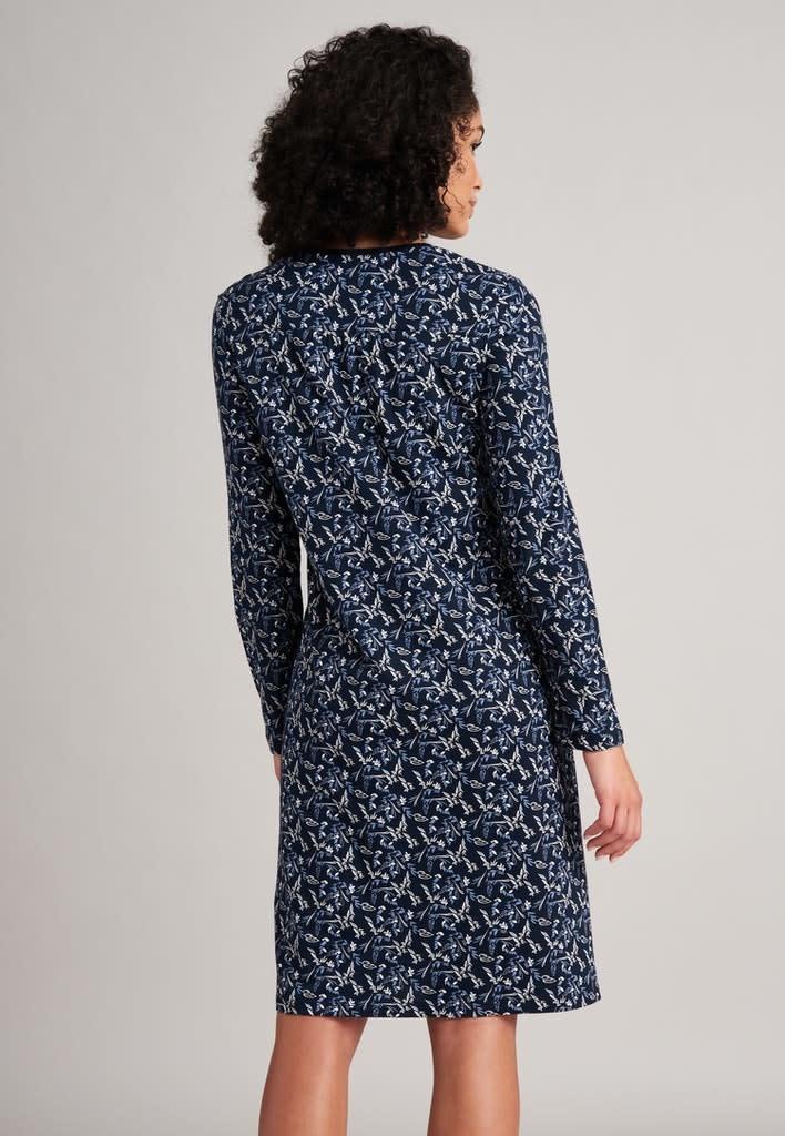 Nachthemd lange mouw 175566 - donkerblauw-2