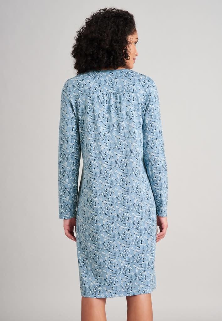 Nachthemd lange mouw 175566 - lichtblauw-2