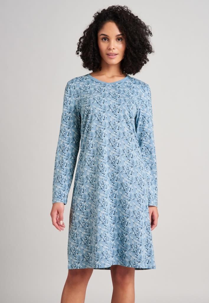 Nachthemd lange mouw 175566 - lichtblauw-3