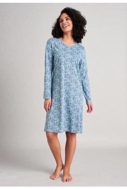 Nachthemd lange mouw 175566 - lichtblauw