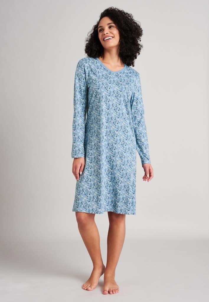 Nachthemd lange mouw 175566 - lichtblauw-1