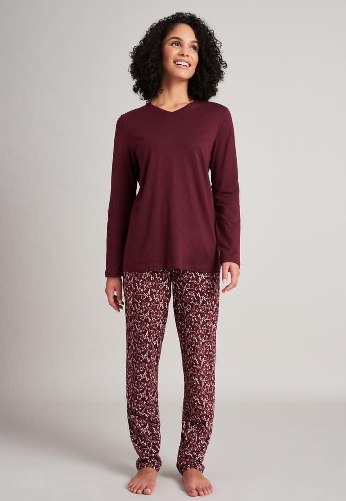 Pyjama lange mouw 175567 - burgundy-3