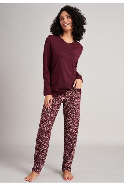 Pyjama lange mouw 175567 - burgundy