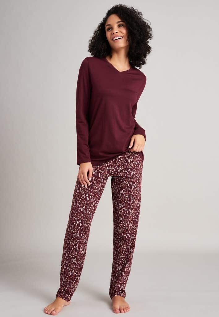 Pyjama lange mouw 175567 - burgundy-1
