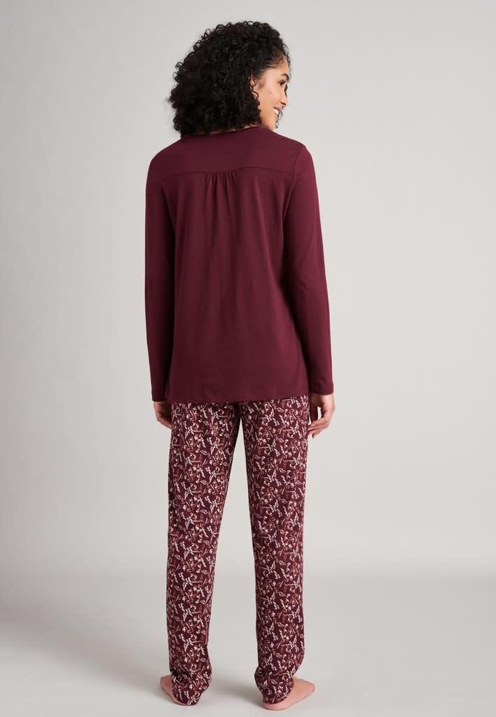 Pyjama lange mouw 175567 - burgundy-2