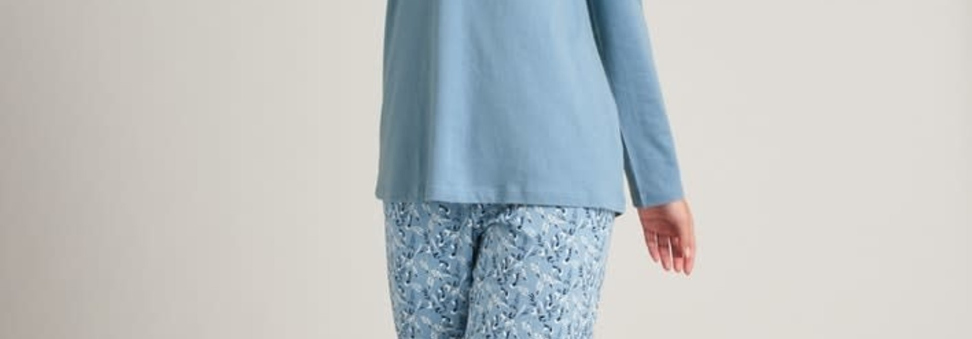 Pyjama lange mouw 175567 - lichtblauw