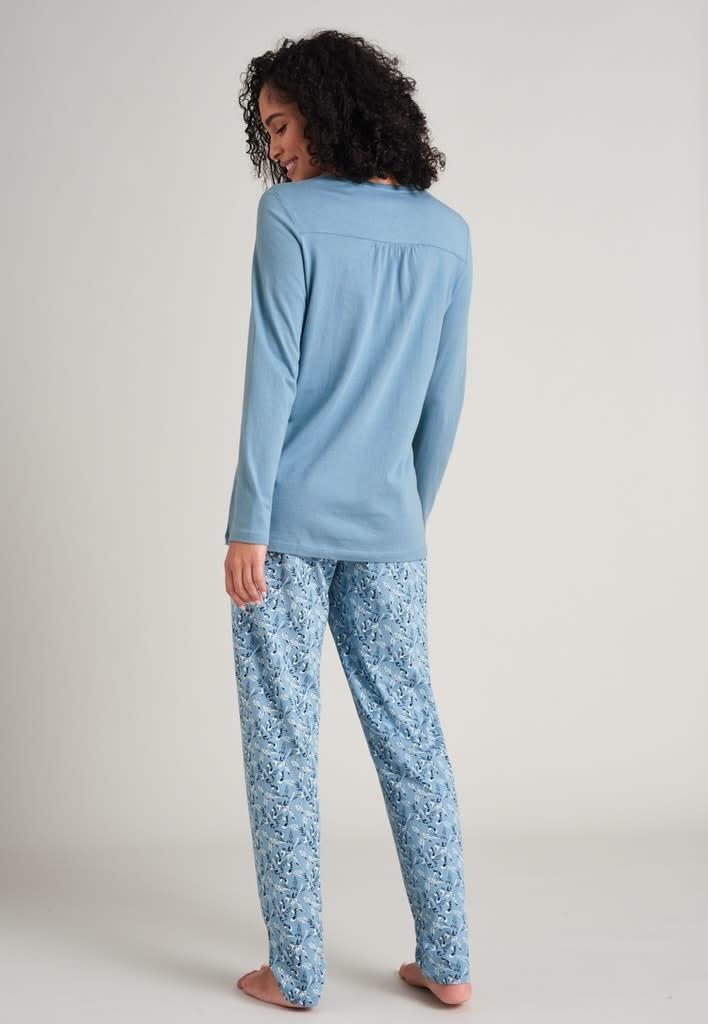 Pyjama lange mouw 175567 - lichtblauw-3
