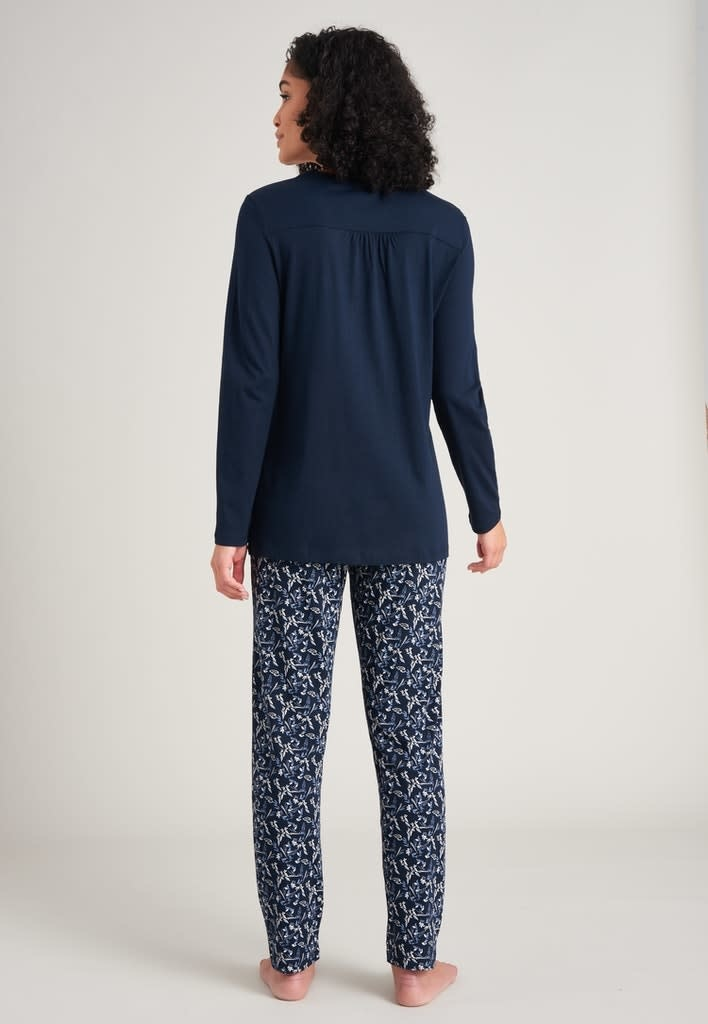 Pyjama lange mouw 175567 - donkerblauw-2