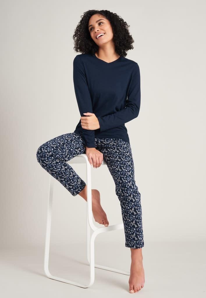 Pyjama lange mouw 175567 - donkerblauw-1