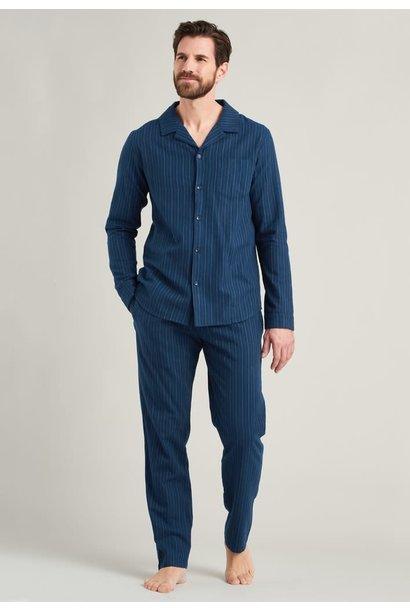 Flanel Pyjama lange mouw met knopen 175611