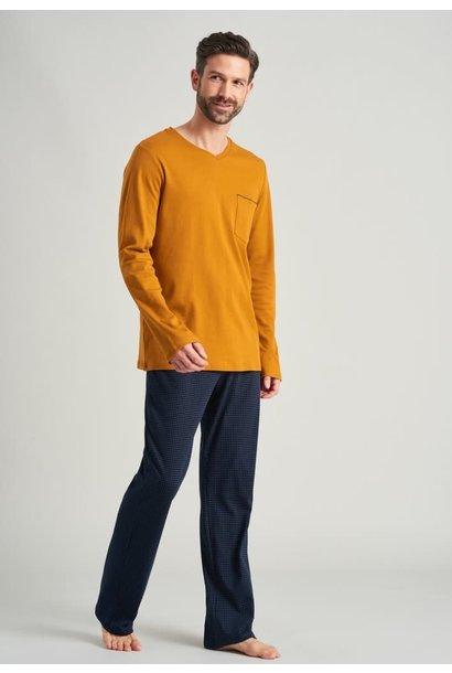 Pyjama lange mouw 175639 havana