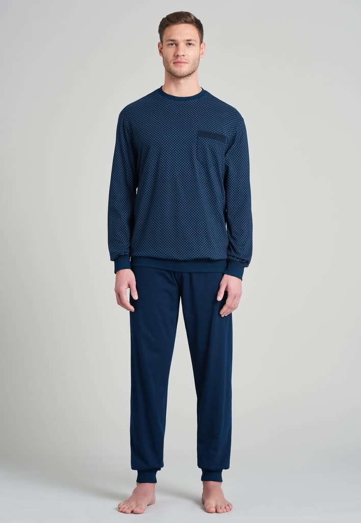 Pyjama lange mouw 175675 royal blue-3