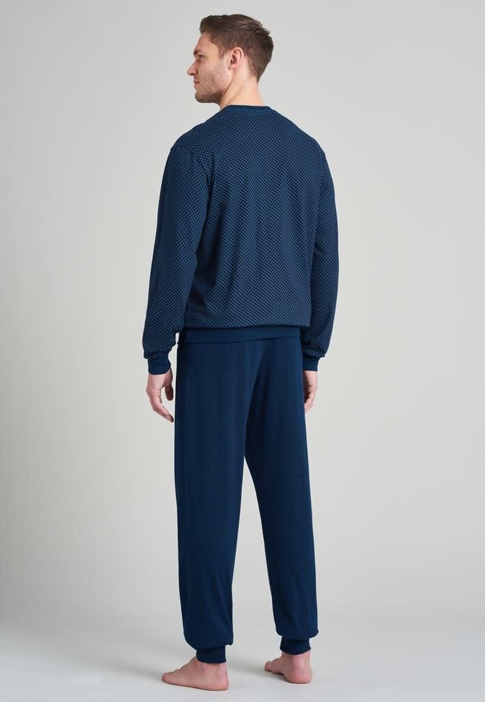 Pyjama lange mouw 175675 royal blue-2