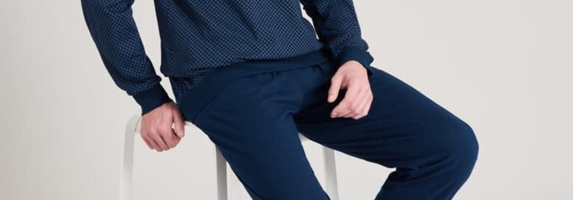 Pyjama lange mouw 175675 royal blue