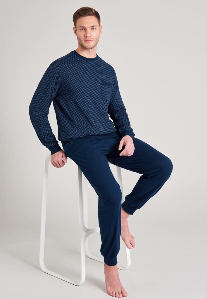 Pyjama lange mouw 175675 royal blue-1