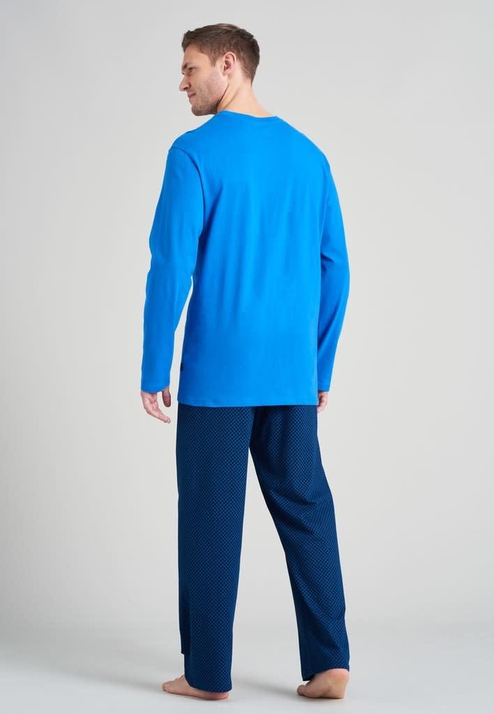 Pyjama lange mouw 175678 royal blue-2
