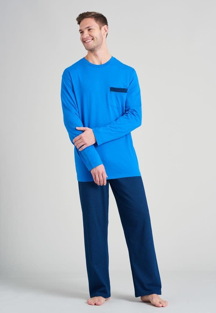 Pyjama lange mouw 175678 royal blue-1