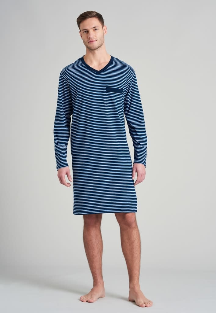 Nachthemd lange mouw 175685 - blauw-3