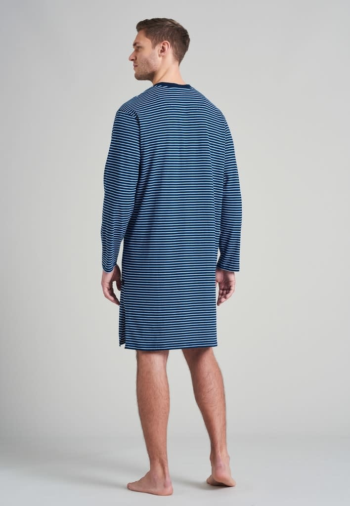 Nachthemd lange mouw 175685 - blauw-2