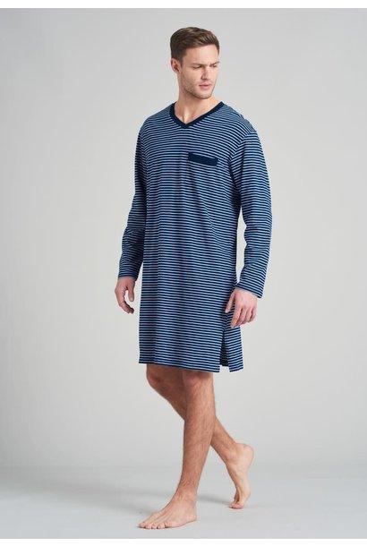 Nachthemd lange mouw 175685 - blauw