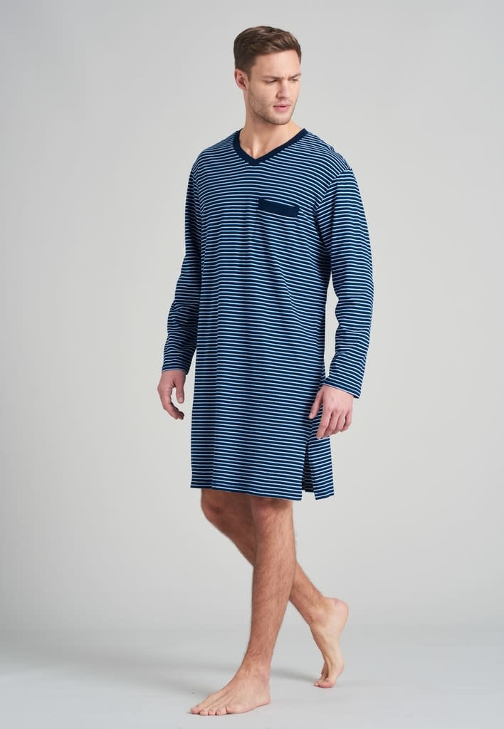 Nachthemd lange mouw 175685 - blauw-1