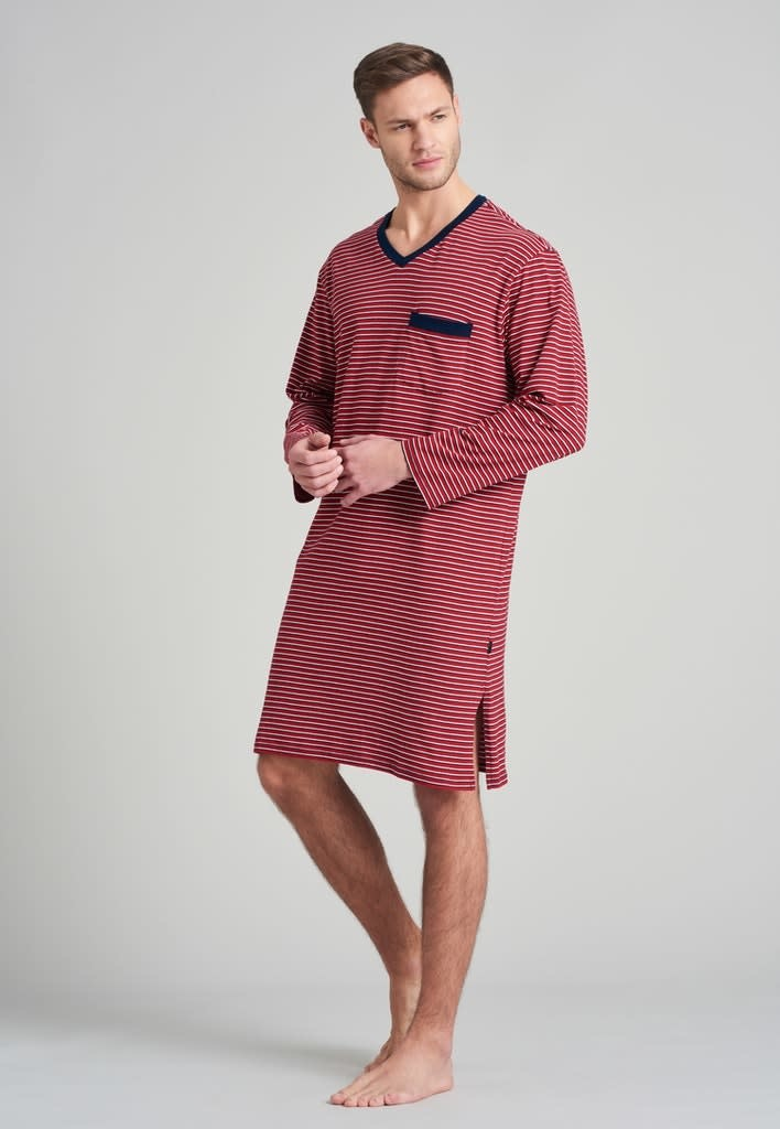 Nachthemd lange mouw 175685 - rood-1