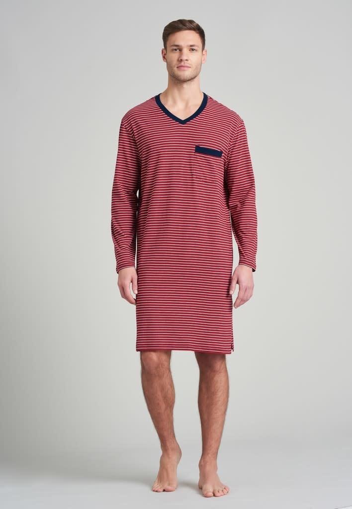 Nachthemd lange mouw 175685 - rood-3