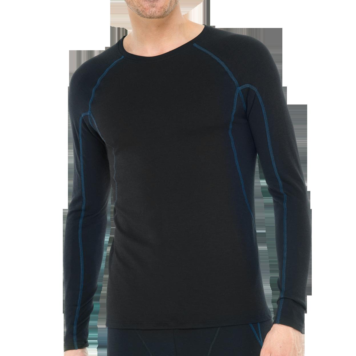 Thermo T-shirt met lange mouw 135306 - zwart mt. 4-1