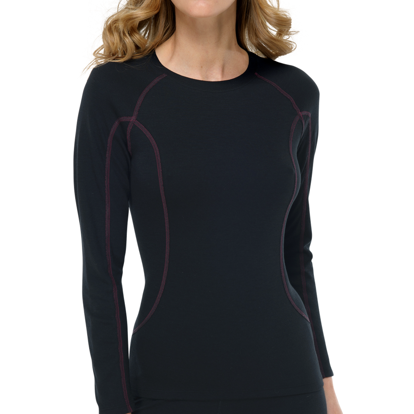 Thermo T-shirt met lange mouw 135302 - zwart-1