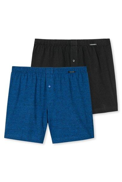 Boxershort 2-Pack 168446 - blauw/zwart
